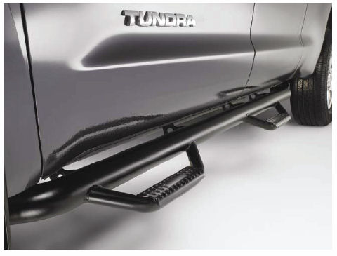Toyota Tundra Double Cab Black, Predator Running Boards / 4Steps