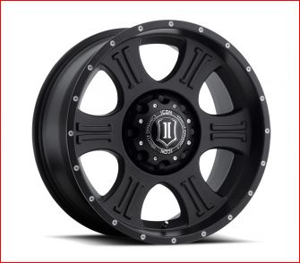 ICON Shield 20x9 Black Alloy Wheels