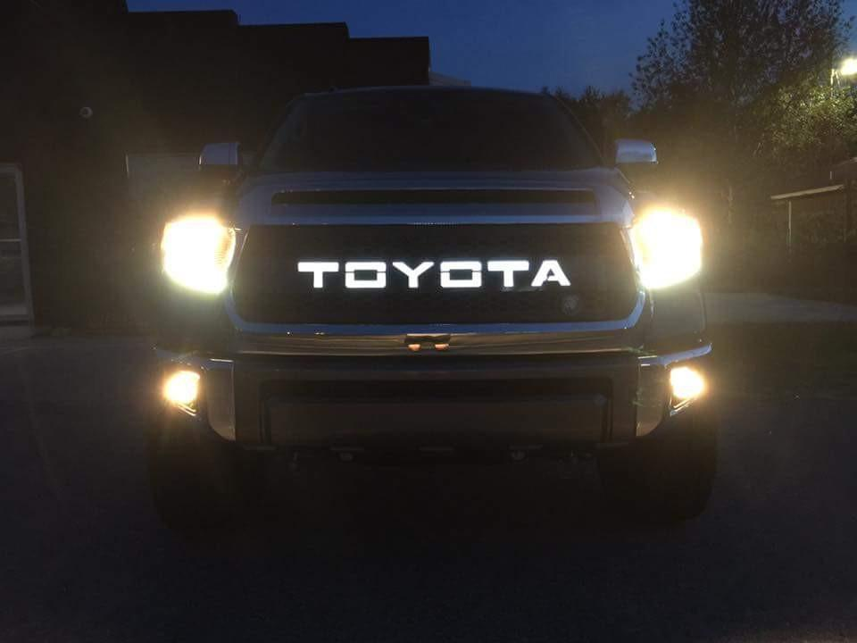 DB Customz Tundra Grille Insert; With Backlit Lettering; 2010 - 2013; FREE SHIPPING!