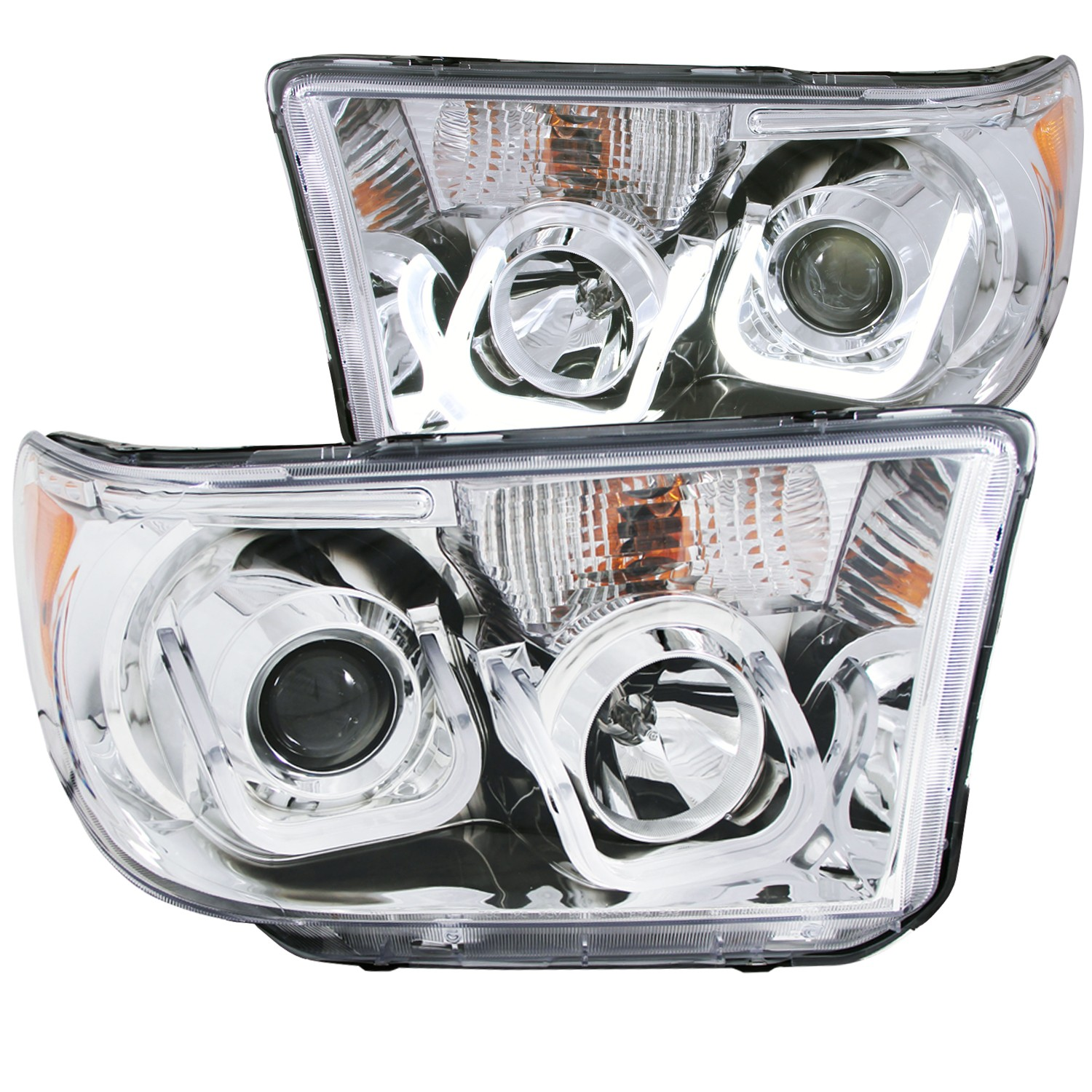 Anzo Projector Headlights U-Bar Chrome Clear