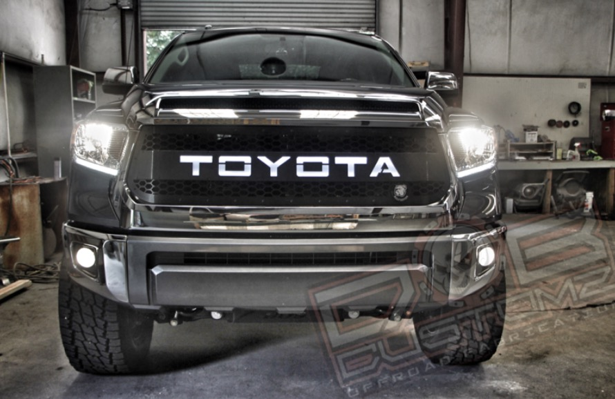 DB Customz 2014 - 2018 Tundra Grille Insert with Backlit Lettering (FREE SHIPPING)