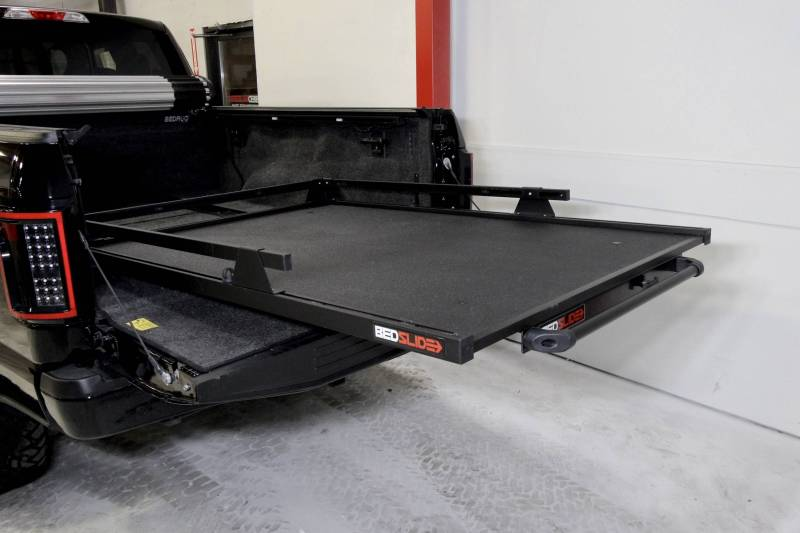 BEDSLIDE Contractor 95 Inch x 48 Inch Black 8 Foot Longbed Toyota