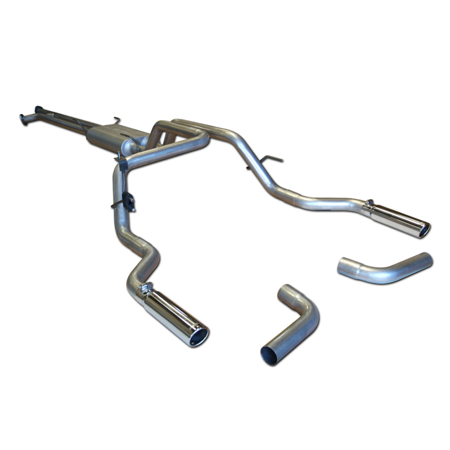 2007-2009 Toyota Tundra Cat-back System - Dual Rear/Side Exit