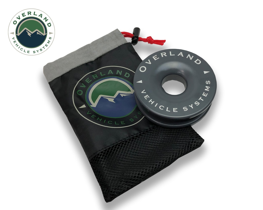 Overland Vehicle Systems Recovery Ring 4.00 Inch 41,000 LBS Gray With Storage Bag Universal