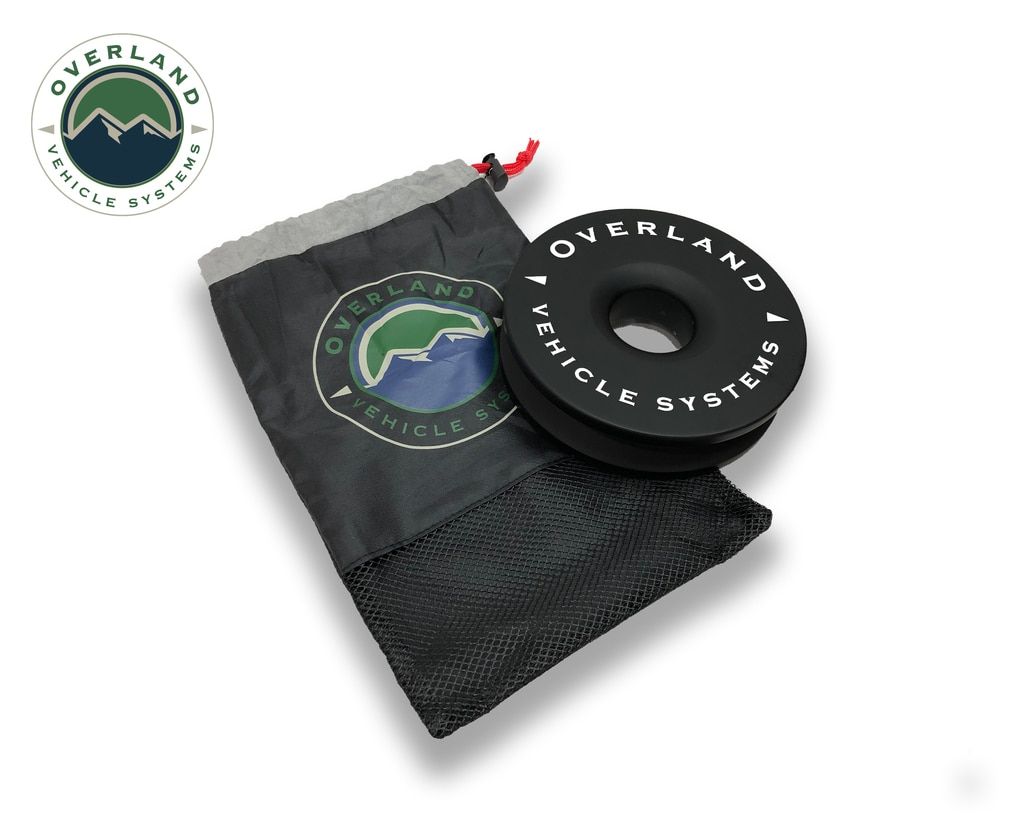 Overland Vehicle Systems Recovery Ring 6.25 Inch 45,000 LBS Black With Storage Bag Universal