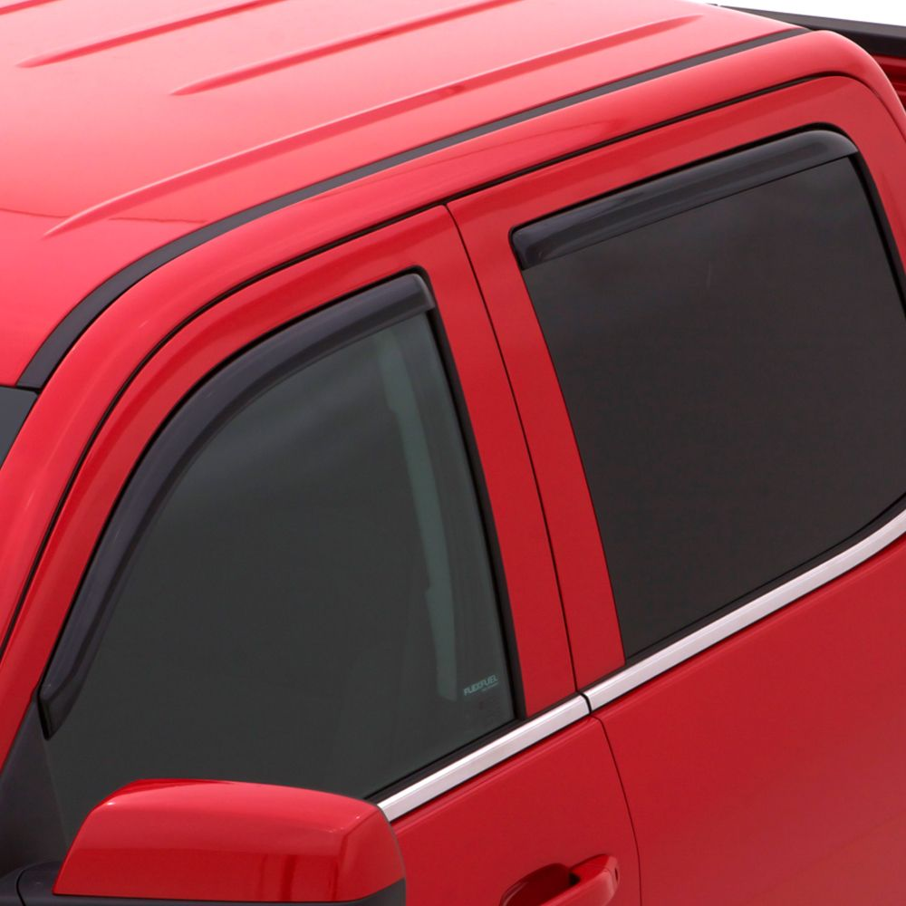 Auto Ventshade In-Channel Ventvisor Side Window Deflector, 4-Piece Set for 2007-2020 Toyota Tundra Double Cab