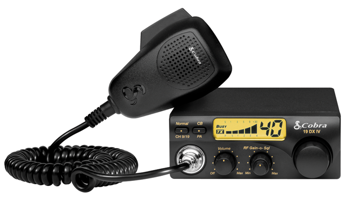 Cobra 19 DX IV Compact 40 Channel 4 Watt CB Radio with RF Gain