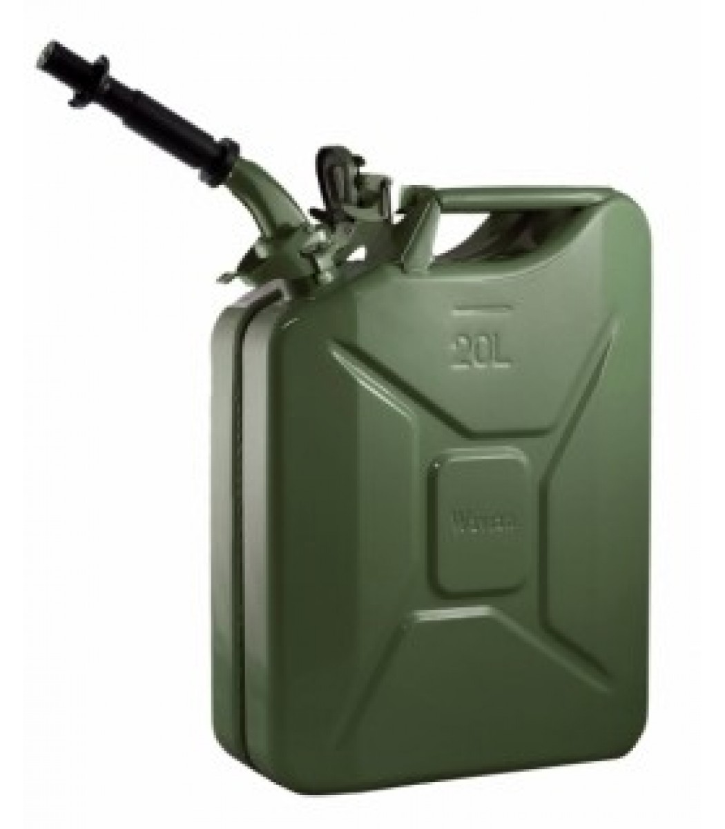 Wavian Green 5.3 Gallon Steel Fuel Can