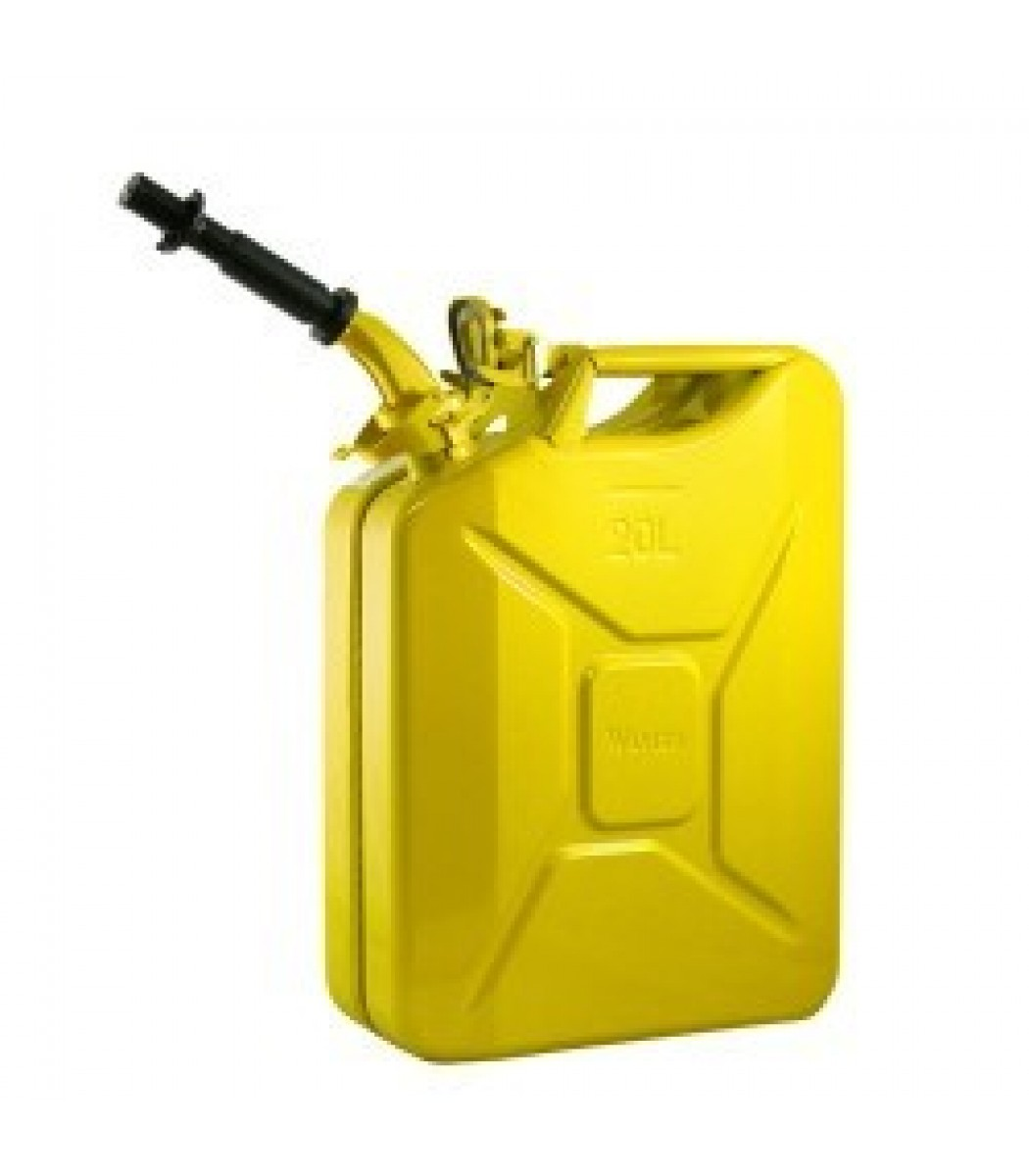 Wavian Yellow 5.3 Gallon Steel Fuel Can