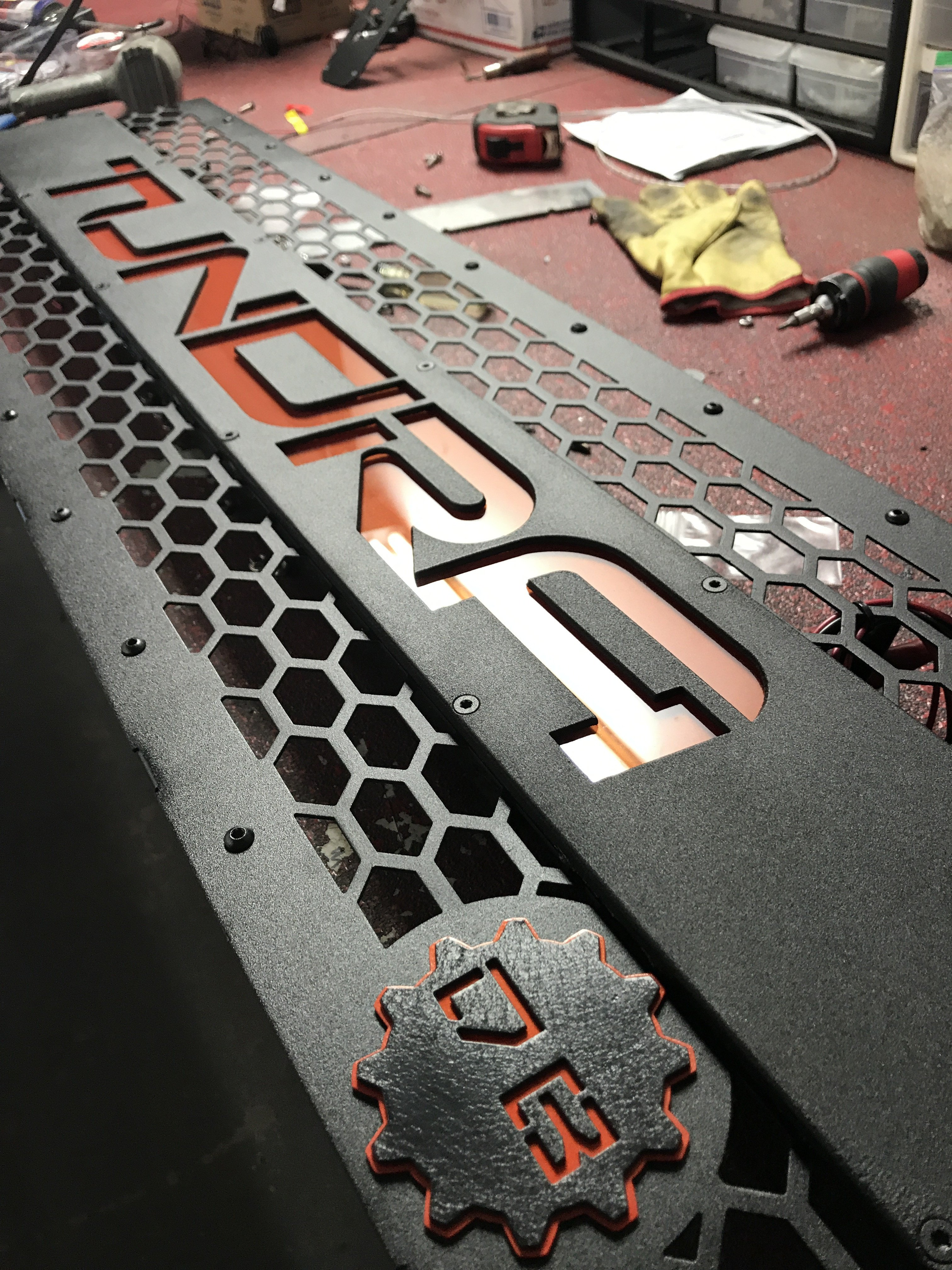 DB Customz Tundra Grille Insert; With Color-Matched Lettering; TSS Ready; 2014-2020; FREE SHIPPING!