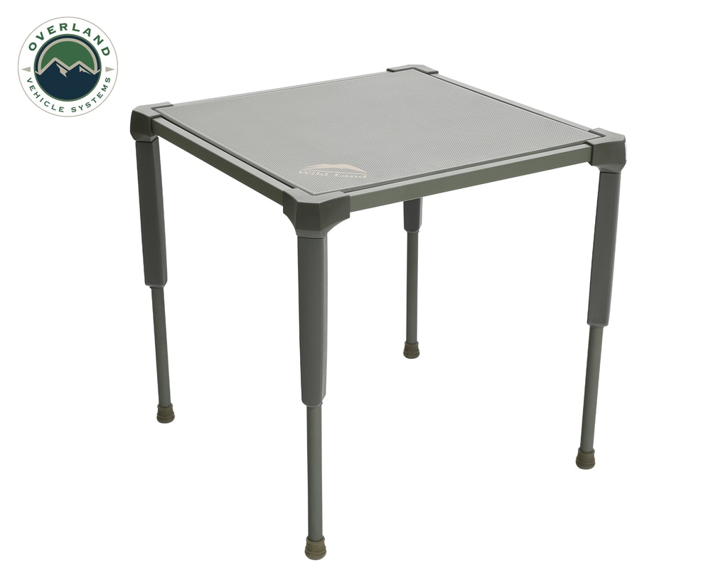 Overland Vehicle Systems Camping Table Folding Portable Camping Table Small With Storage Case Wild Land