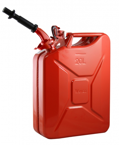 Wavian Red 5.3 Gallon Steel Fuel Can