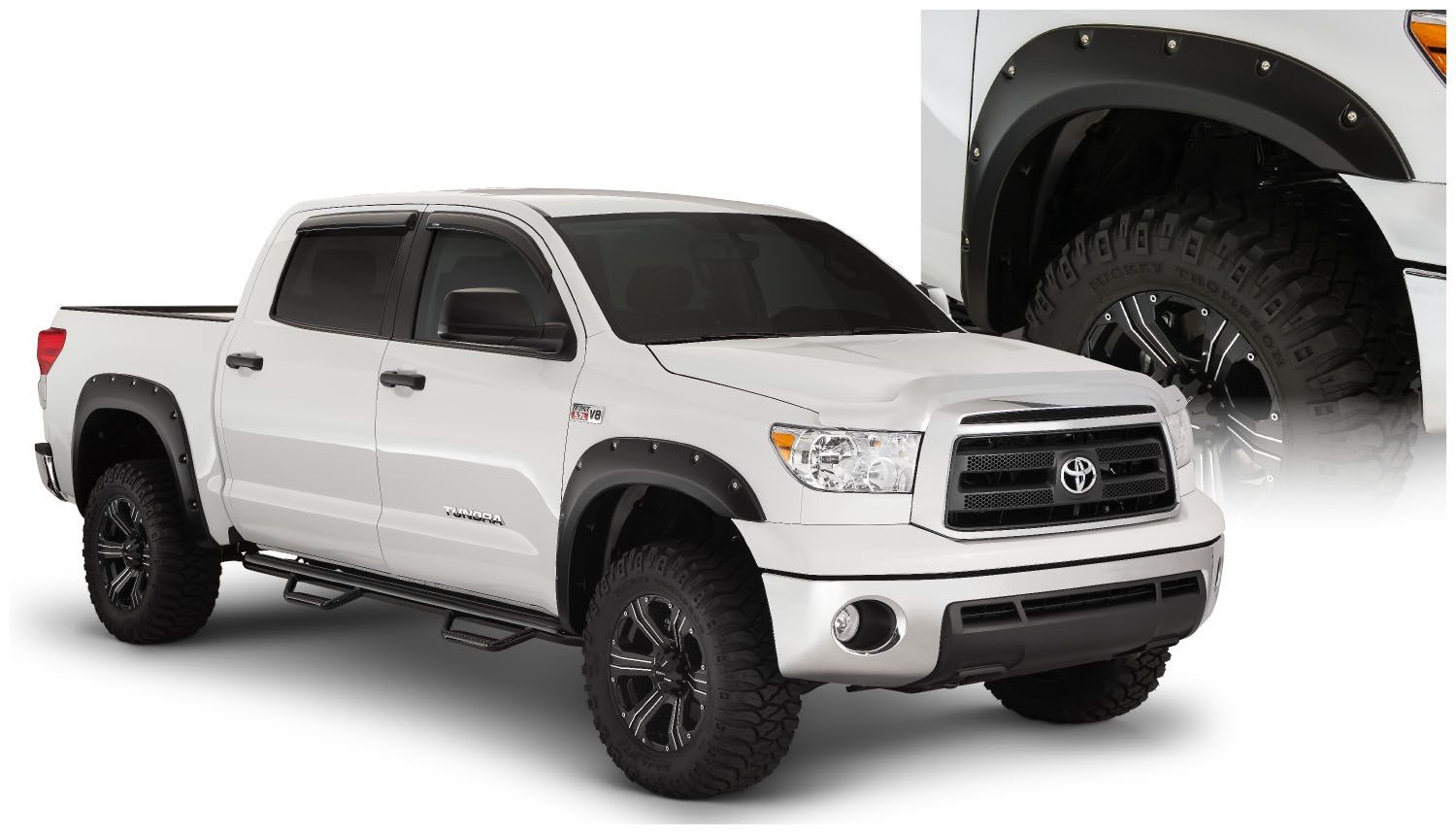 Bushwacker Pocket Style Smooth Finish Fender Flares 2007-2013