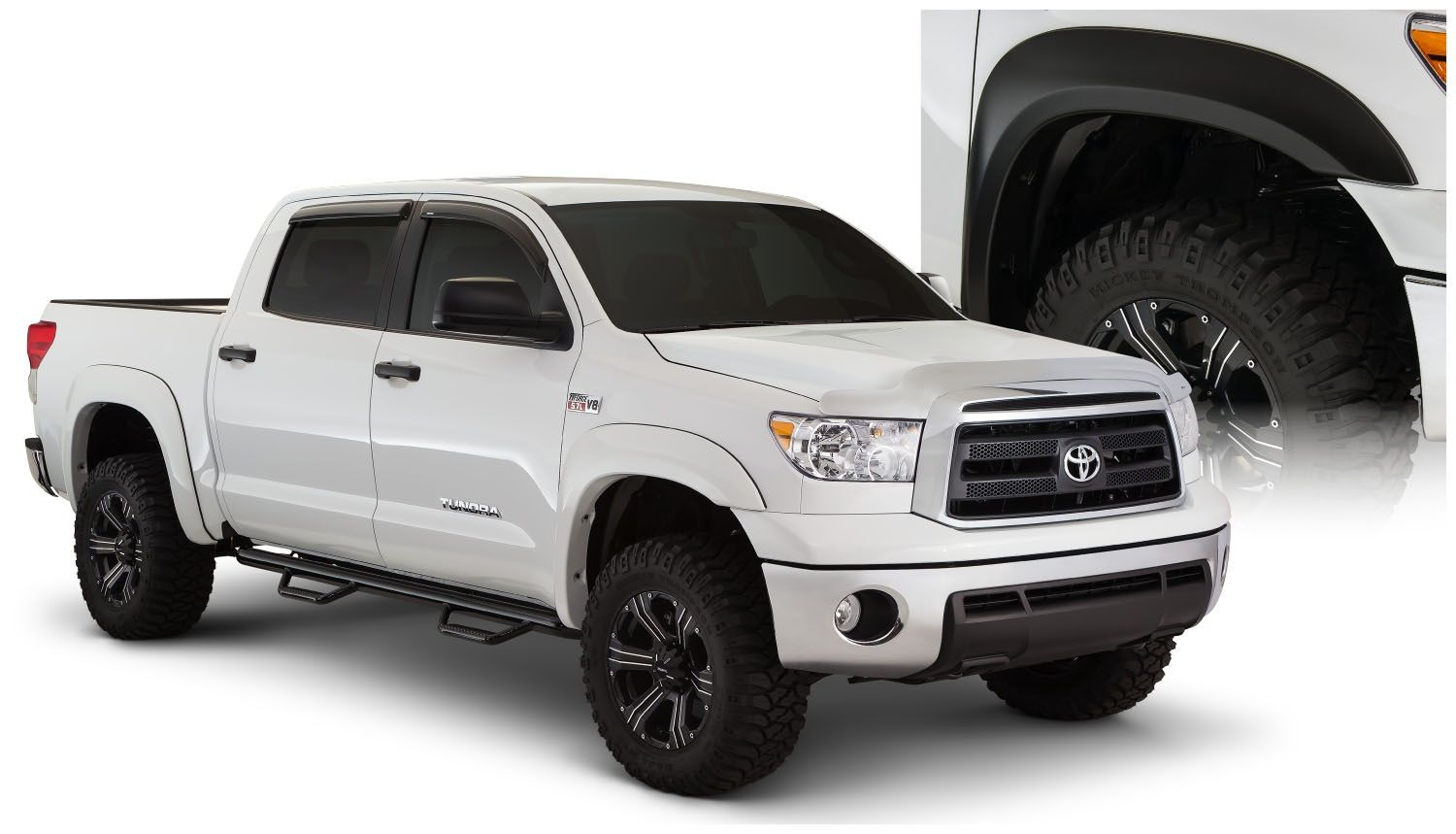 Bushwacker Extend-A-Fender Style Smooth Finish Fender Flares 2007-2013