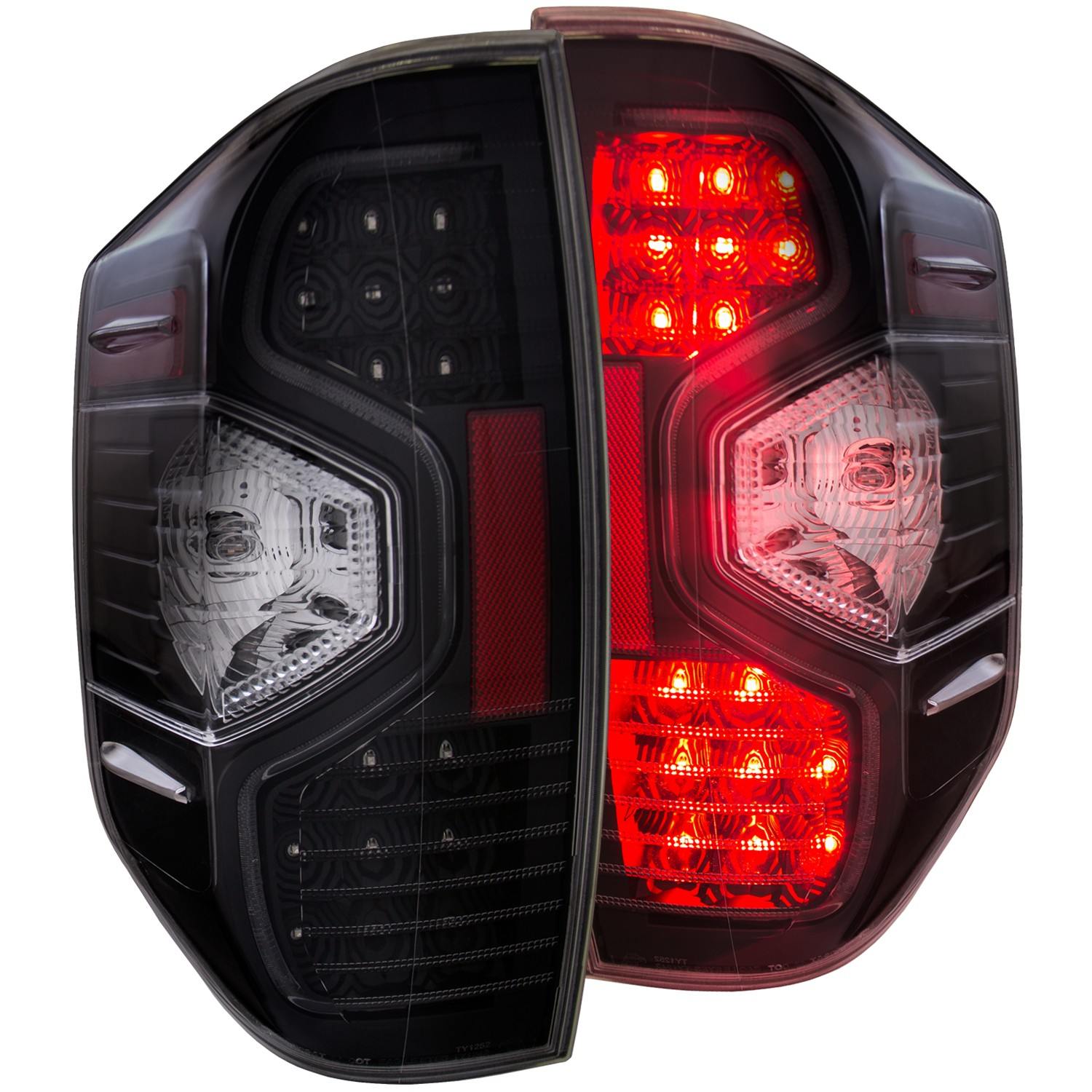 Anzo LED Black Tail Lights - 14+