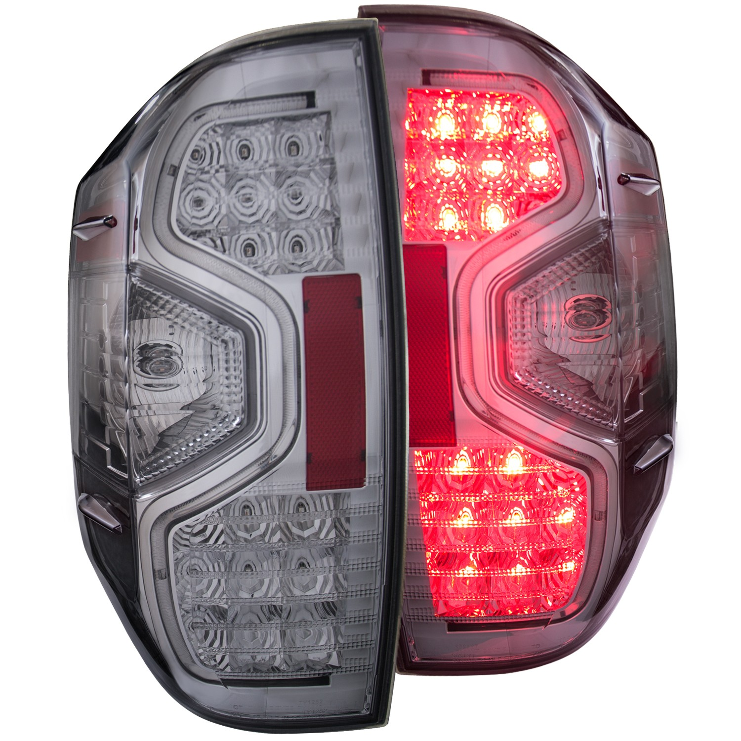 Anzo LED Chrome Tail Lights - 14+