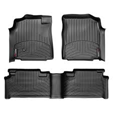 Toyota Tundra Access Cab (extended cab) Front and Rear Floorliners Black