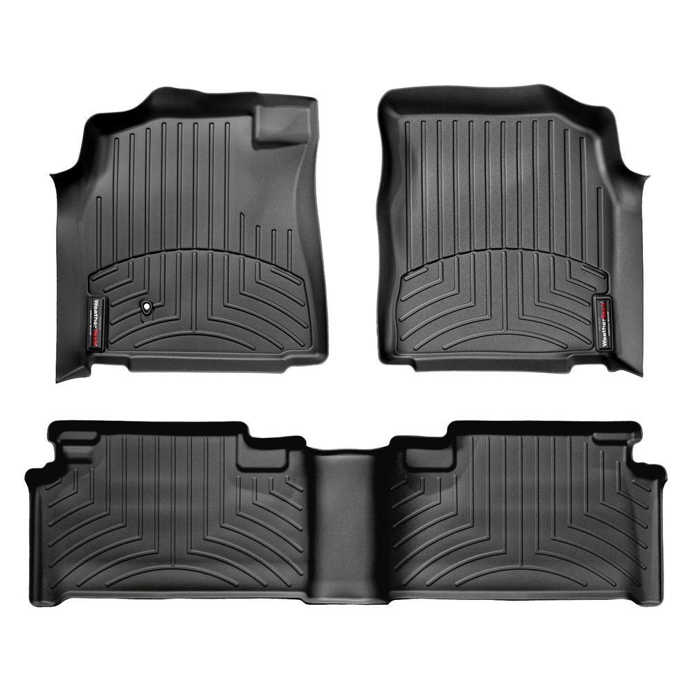 Toyota Tundra Fits Double Cab only Front and Rear Floorliners Black