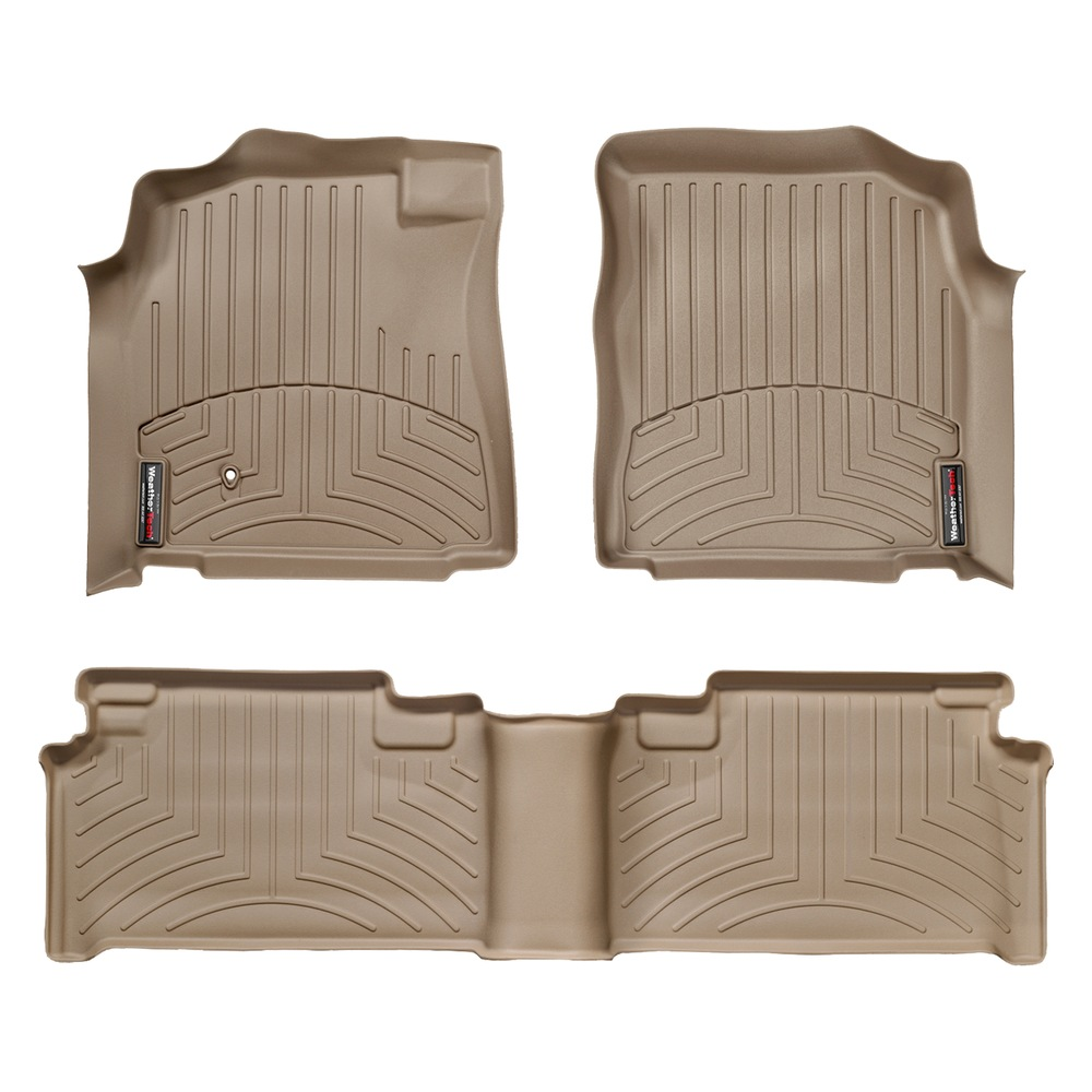 Toyota Tundra Access Cab (extended cab) Front and Rear Floorliners Tan