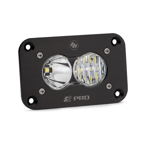 LED Work Light Flush Mount Clear Lens Driving Combo Pattern S2 Pro Baja Designs