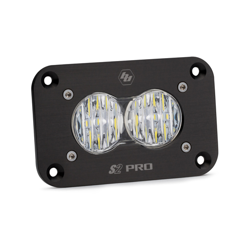 LED Work Light Flush Mount Clear Lens Wide Cornering Pattern S2 Pro Baja Designs
