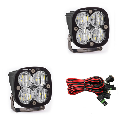 LED Light Pods Wide Cornering Pattern Pair Squadron Pro Series Baja Designs