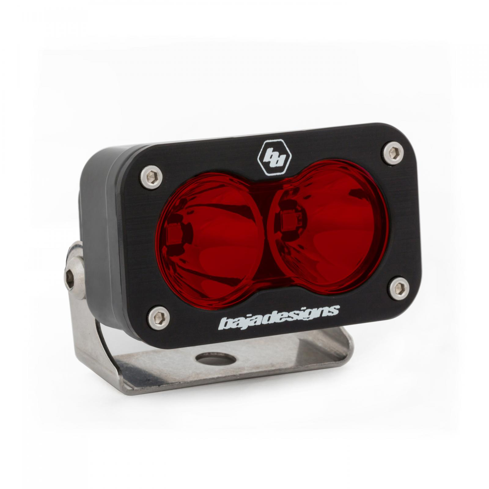 LED Work Light Red Lens Spot Pattern S2 Sport Baja Designs