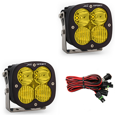 LED Light Pods Amber Lens Driving Combo Pattern Pair XL Sport Series Baja Designs