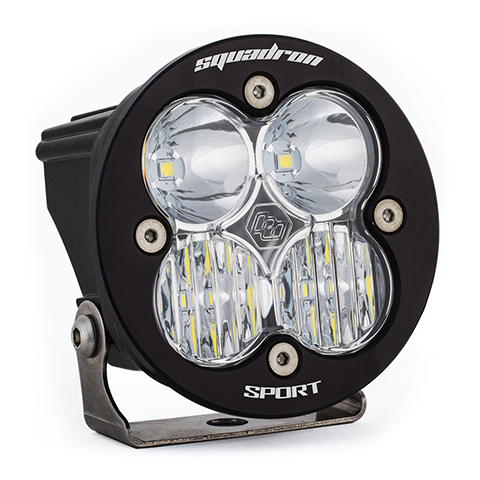 LED Light Pod Clear Lens Driving/Combo Pattern Each Squadron R Sport Baja Designs