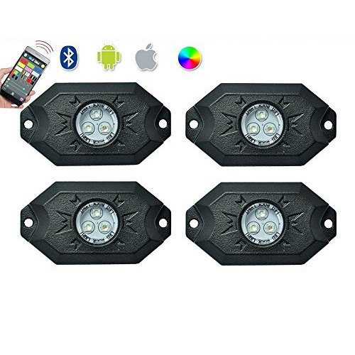 Twisted 4 Piece RGB Rock Lights (Bluetooth)