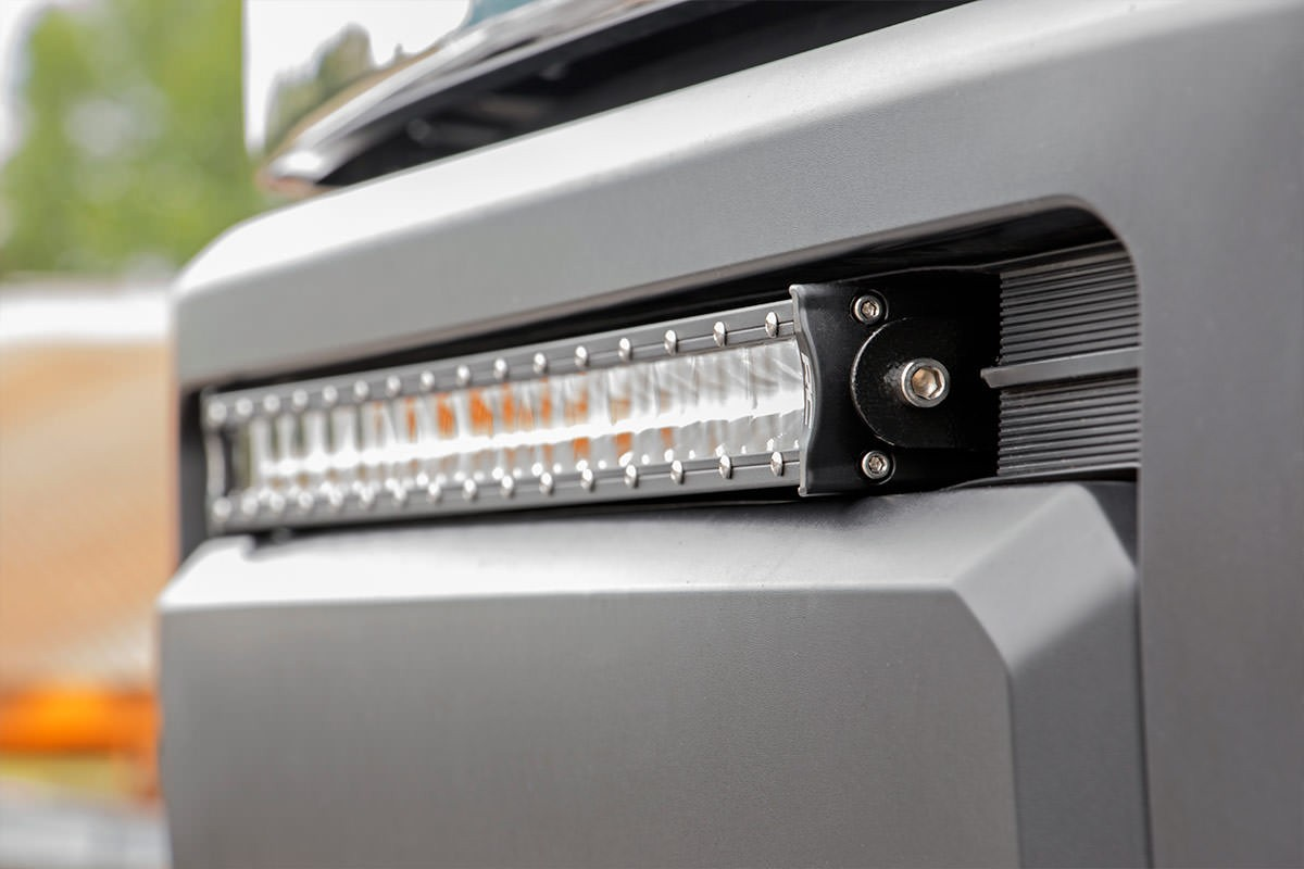 Rough country tundra 30 led bumper kit chrome series