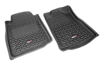 Rugged Ridge 08-11 Rear Floor Liner Kit - Black