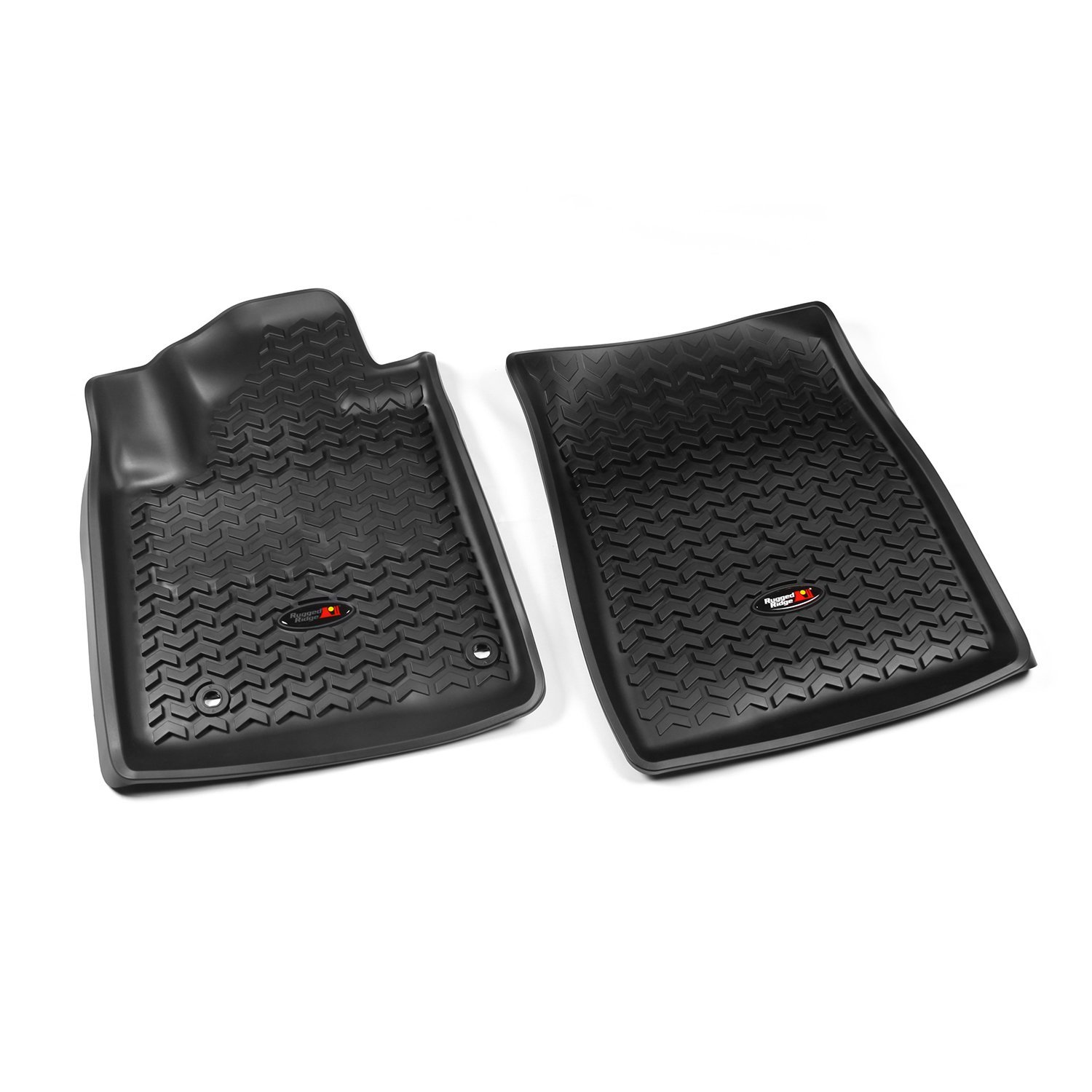 Rugged Ridge 12-18 All Terrain Front Floor Liner Kit - Black