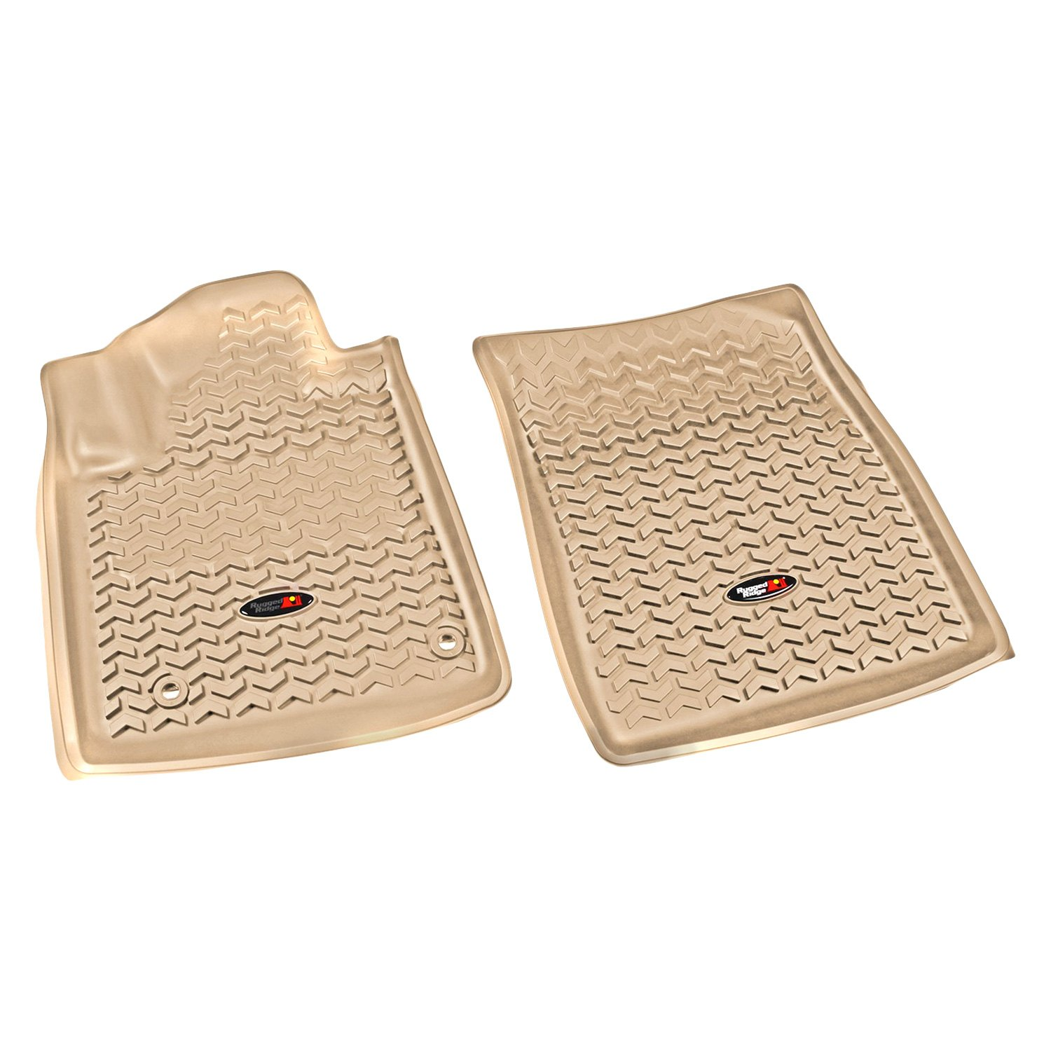 Rugged Ridge 12-18 All Terrain Front Floor Liner Kit - Tan
