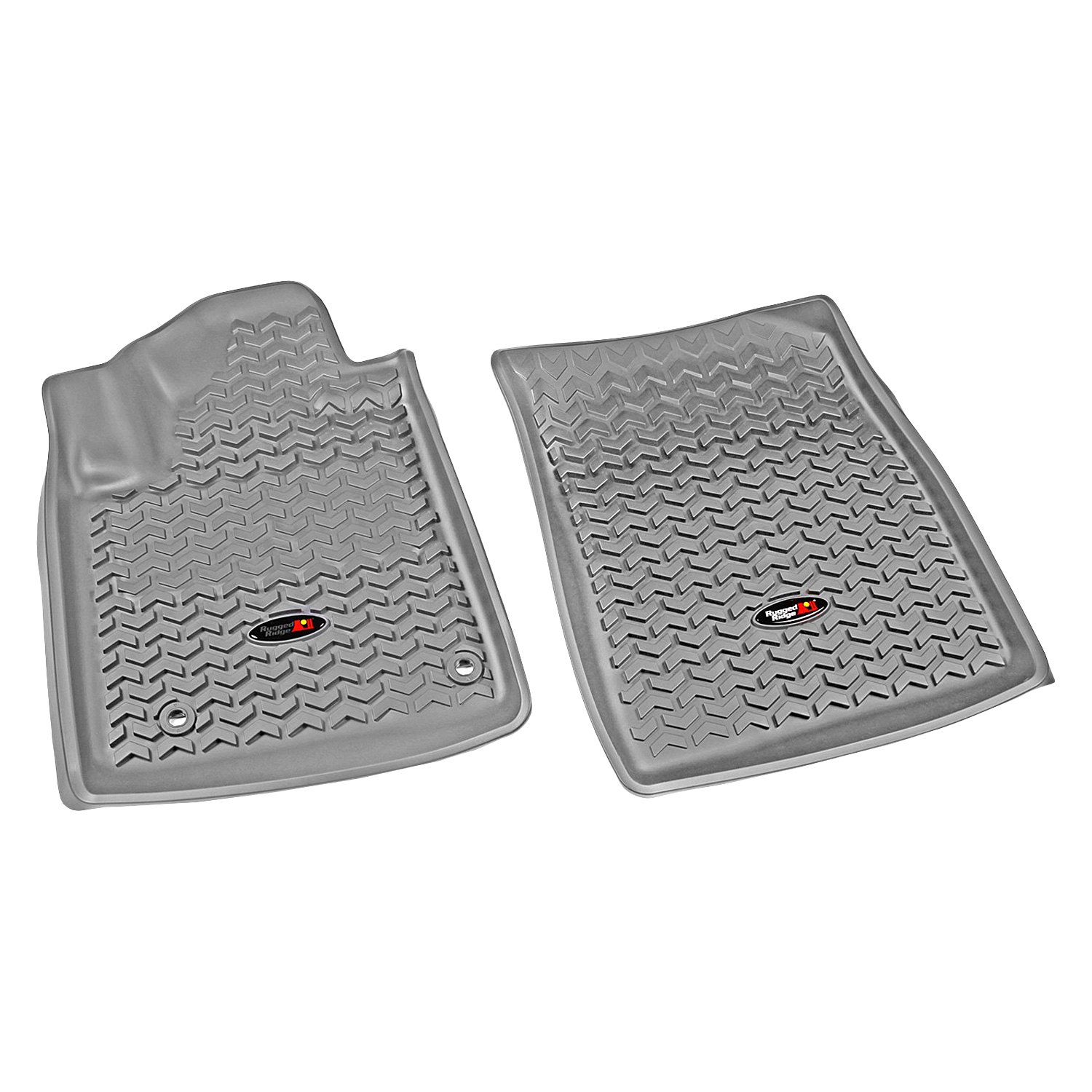 Rugged Ridge 12-18 All Terrain Front Floor Liner Kit - Gray