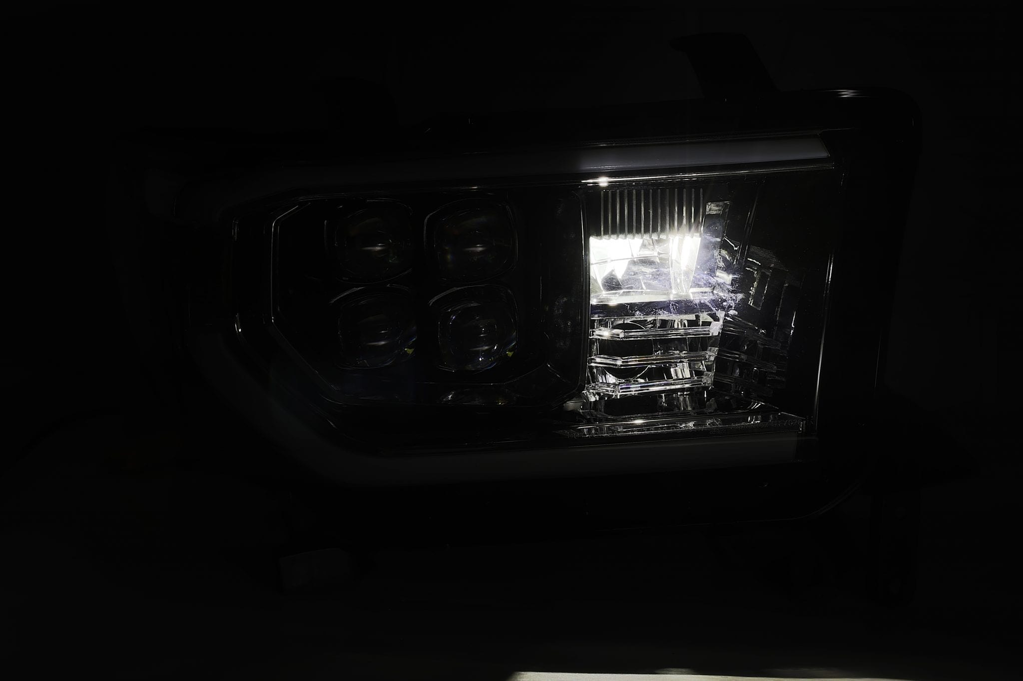 AlphaRex 07-13 Toyota Tundra/08-13 Toyota Sequoia NOVA-Series LED Projector Headlights Mid-Night Black (Without Level Adjuster)