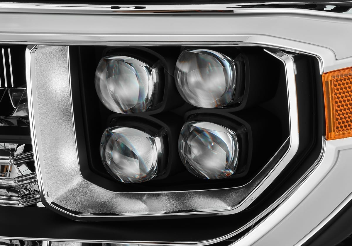 AlphaRex 07-13 Toyota Tundra/08-13 Toyota Sequoia NOVA-Series LED Projector Headlights Black (Without Level Adjuster)