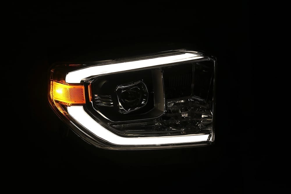 AlphaRex 14-20 Toyota Tundra PRO-Series Projector Headlights Chrome - Ships Free