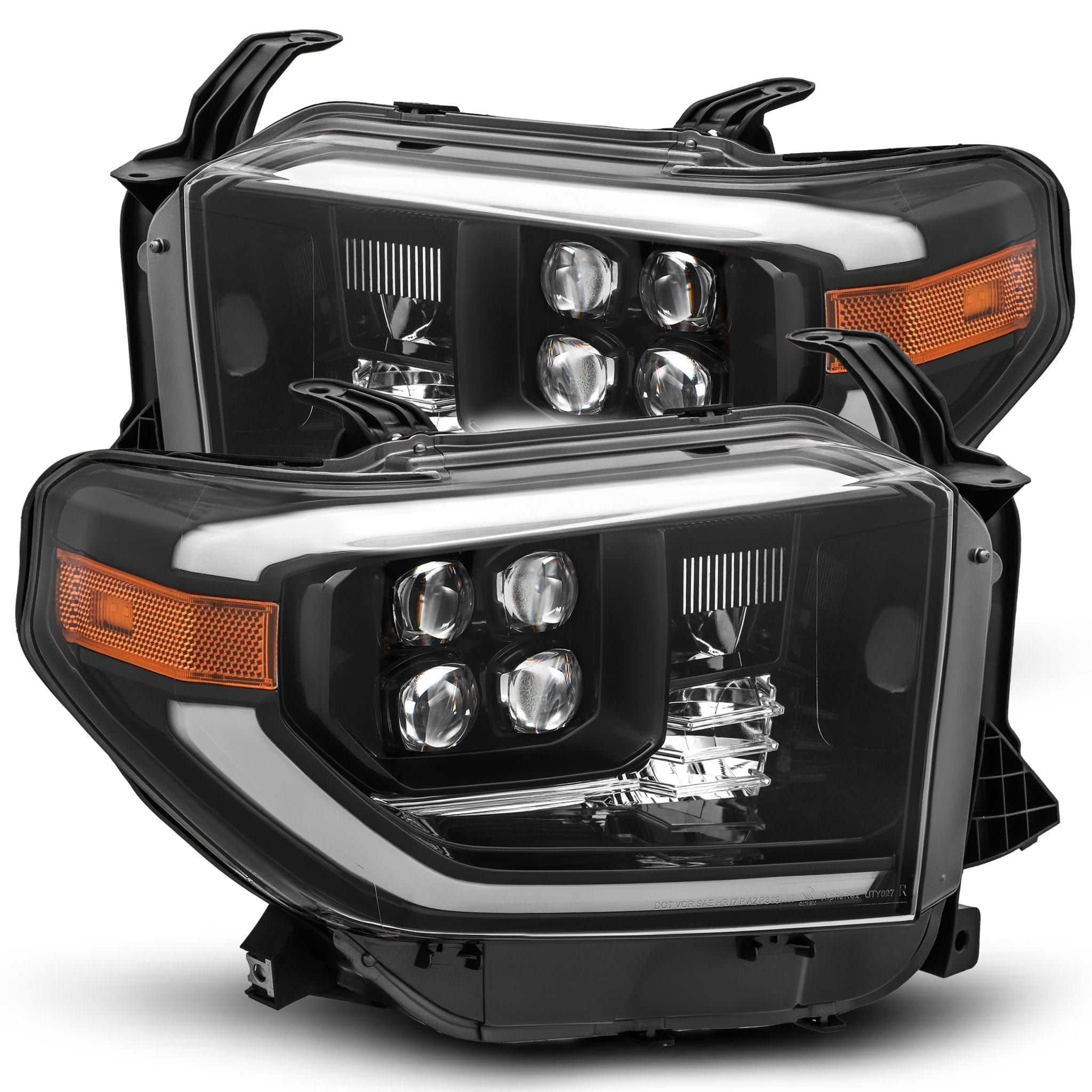 AlphaRex 14-20 Toyota Tundra NOVA-Series LED Projector Headlights Mid-Night Black - Ships Free