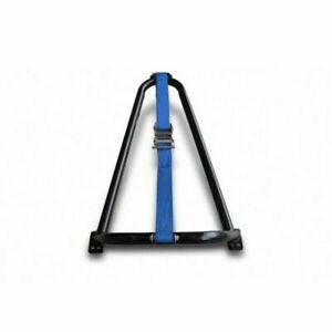 N-Fab Universal Bed Mounted Tire Carrier - Textured Black w/Blue Strap
