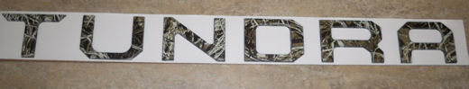 NEW! Tailgate Letter Insert -Smoothe Camo!