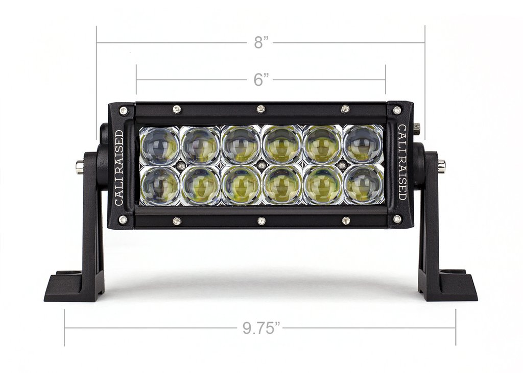 Cali Raised 8 In. Dual Row 5D Optic OSRAM LED Bar - SPOT