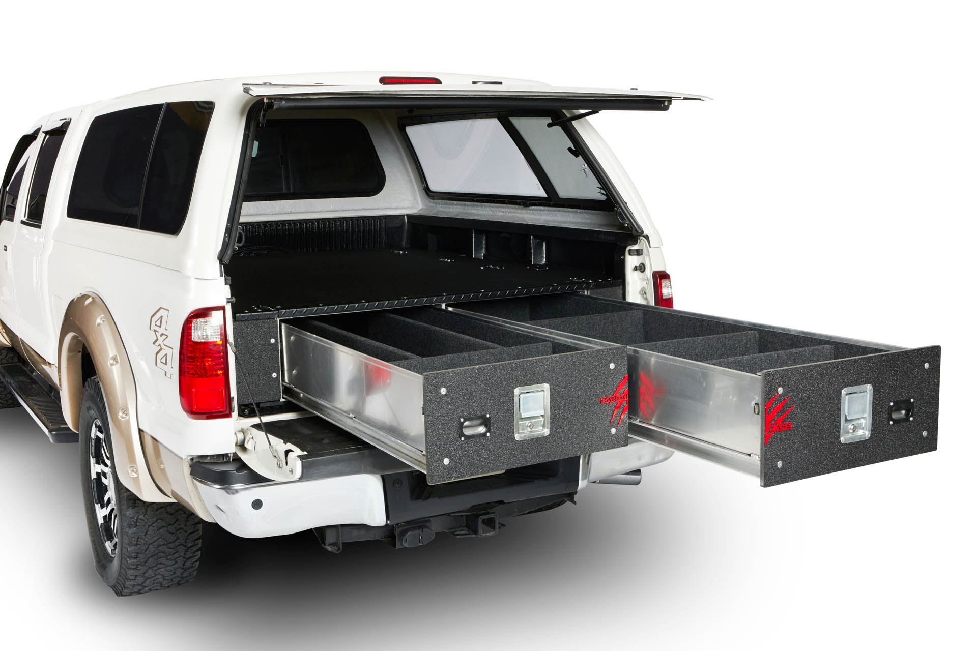 Cargo Ease Cargo Locker Base 12 Inch Dual Drawer System 07-Pres Toyota Tundra Crew Max
