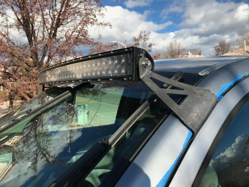 Cali Raised Toyota Tundra 52 Inch Curved Led Light Bar Roof Combo 2014+