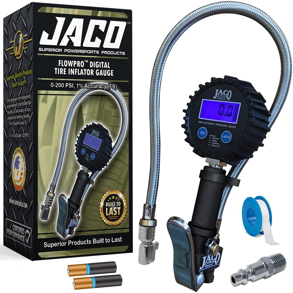 *NEW* - JACO FlowPro Digital Tire Inflator with Pressure Gauge - 200 PSI