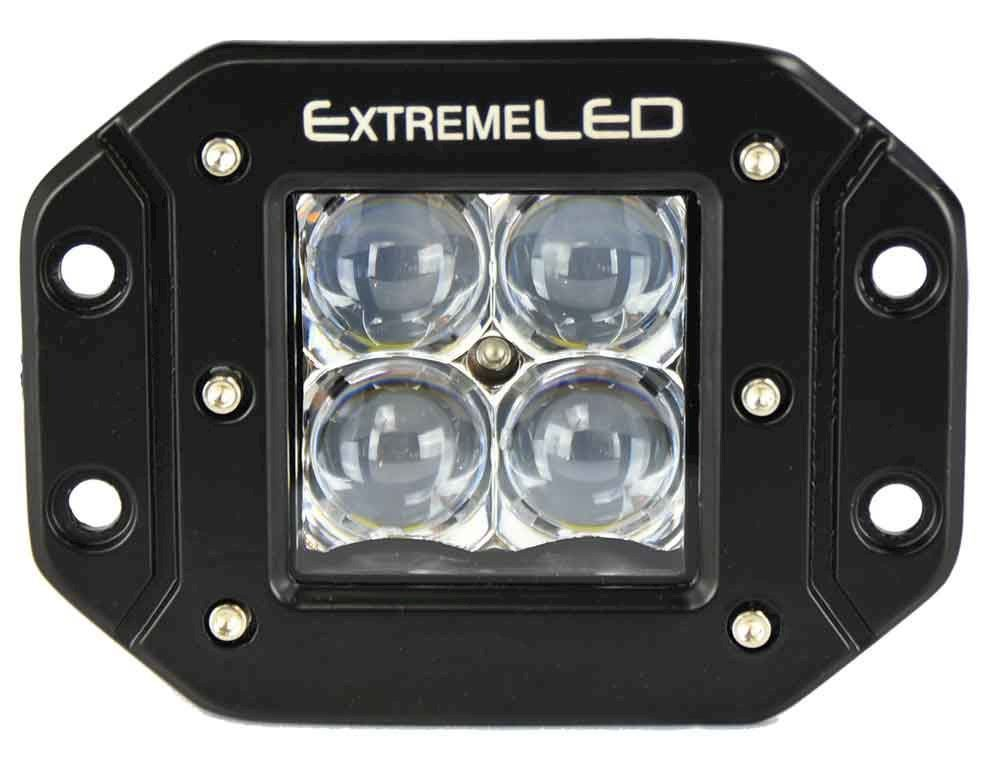 "Extreme Series 5D 3"" LED Light Pod - Flush Mount - Spot Beam"