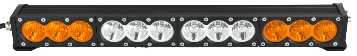 "X6 10W Series 2D Amber White 22"" Single Row LED Light Bar & Harness Kit"