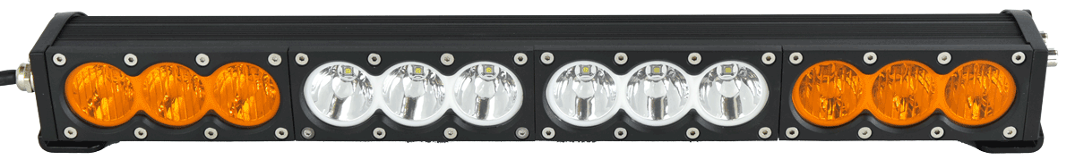 "X6 10W Series 2D Amber White 32"" Single Row LED Light Bar - 17,100 Lumens - Combo Beam"