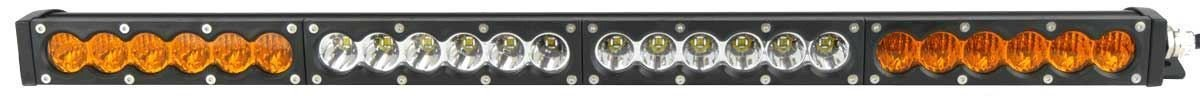 "X6S Slim Series 2D Amber White 38"" Single Row LED Light Bar - 17,100 Lumens - Combo Beam"