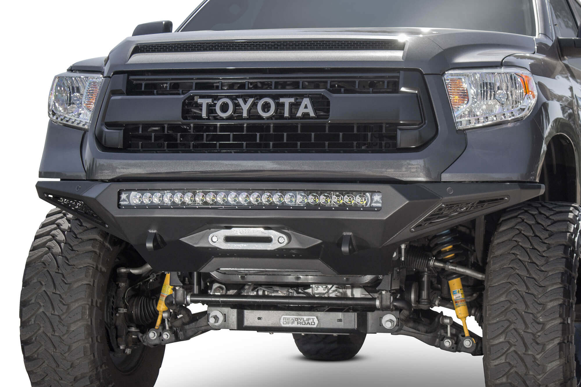 ADD 2014-2020 Toyota Tundra Stealth Fighter Winch Front Bumper W/ Sensors